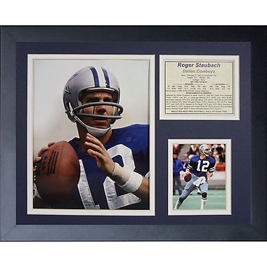 Legends Never Die Dallas Cowboys Roger Staubach Framed Memorabili