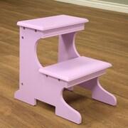 Mega Home 2-Step Wood Step Stool w/ 200 lb. Load Capacity; Purple
