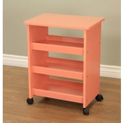 Mega Home All purpose Rolling End Table; Orange