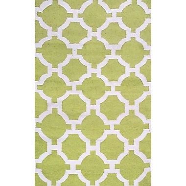Liora Manne Assisi Hand Woven Lime Indoor/Outdoor Area Rug; Rectangle 5' x 7'6''