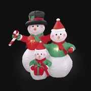 LB International Inflatable 3 Snowman Family Christmas Decoration