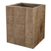 LaMont Wyatt Wood Trash Can; Natural