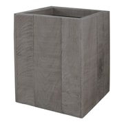 LaMont Wyatt Wood Trash Can; Gray