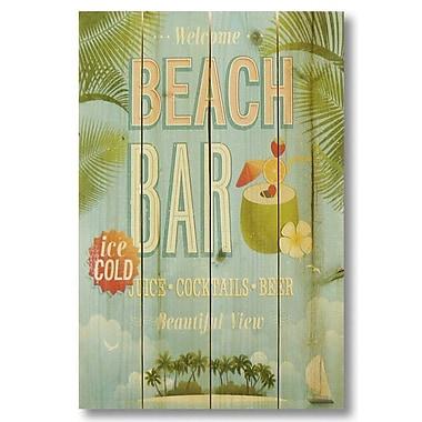 Gizaun Art 4 Piece Wile E. Wood Beach Bar Vintage Advertisement Set
