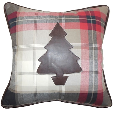 The Pillow Collection Holiday Christmas Tree Throw Pillow