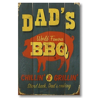 Gizaun Art 4 Piece Wile E. Wood Dad's BBQ Vintage Advertisement Set