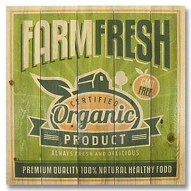 Gizaun Art 5 Piece Wile E. Wood Farm Fresh Organic Vintage Advertisement Set