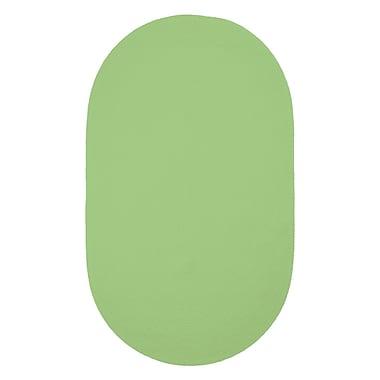 Capel Custom Classics Key Lime Solid Rug; Oval 2' x 3'