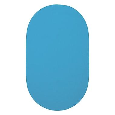 Capel Custom Classics Blue Solid Rug; Oval 3' x 5'