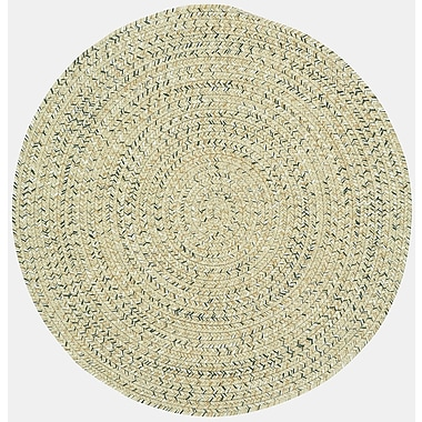 Capel Sea Pottery Sandy Beach Variegated Outdoor Area Rug; Round 3'