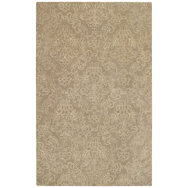 Capel Flower Garden Taupe Area Rug; Rectangle 5' x 8'