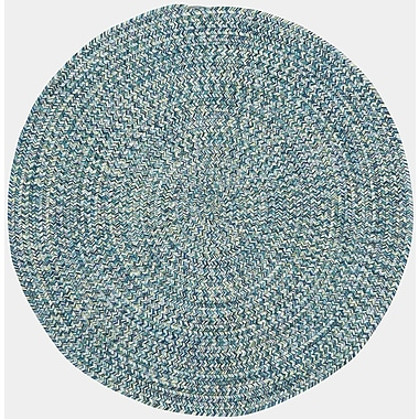 Capel Sea Pottery Blue Outdoor Area Rug; Round 7'6''
