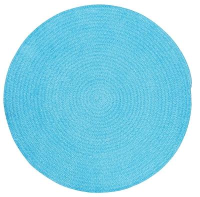 Capel Custom Classics Blue Solid Rug; Round 8'6''