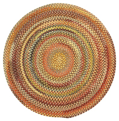 Capel Eaton Grey Variegated Area Rug; Round 1'3''