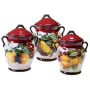 Certified International Botanical Fruit 3 Piece Storage Jar Set