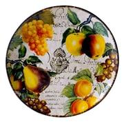 Certified International Botanical Fruit Round Platter