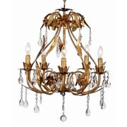 Jubilee Collection Ballroom 5-Light Crystal Chandelier; Gold