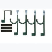 Global Door Controls Door Hanger and 4 Extended Wall Hook; Bisto Green