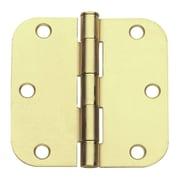 Global Door Controls 3.5'' H   3.5'' W Butt/Ball Bearing Pair Door Hinges (Set of 2); Satin Brass