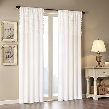 Madison Park Bessie Solid Semi-Sheer Rod Pocket Single Curtain Panel