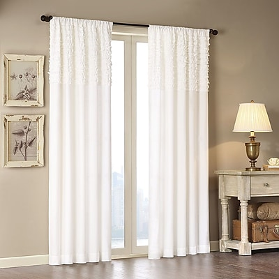 Madison Park Bessie Solid Semi-Sheer Rod Pocket Single Curtain Panel