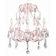 Jubilee Collection Ballroom 5-Light Crystal Chandelier; Pink
