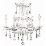Jubilee Collection Cinderella 5-Light Crystal Chandelier; White