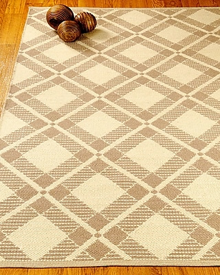 Natural Area Rugs Whimsy Dhurrie Beige/Tan Area Rug; Rectangle 6' x 9'