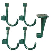 Global Door Controls Ceiling Hanger and 4 Universal Wall Hook; Bisto Green