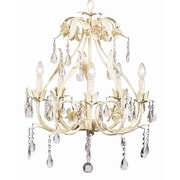 Jubilee Collection Ballroom 5-Light Crystal Chandelier; Ivory