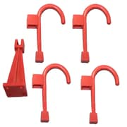 Global Door Controls Wall Hanger and 4 Universal Wall Hook; Chili Pepper Red