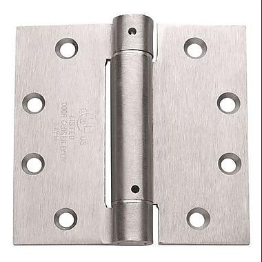 Global Door Controls 4.5'' H 4.5'' W Spring Set of 3 Door Hinges (Set of 3); Brushed Chrome