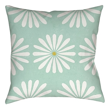 Manual Woodworkers & Weavers Jar of Sunshine Vintage Daisy Printed Throw Pillow