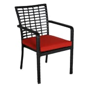 Meadow Decor Melrose Stacking Patio Dining Chair w/ Cushion; B Grade