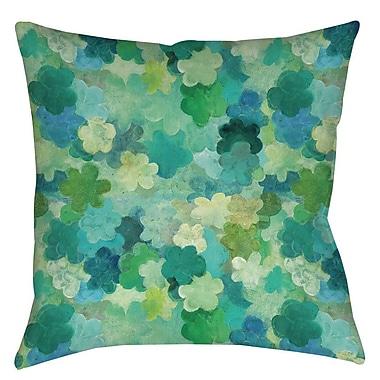 Manual Woodworkers & Weavers Aqua Bloom Water Blends Indoor / Outdoor Throw Pillow