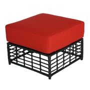 Meadow Decor Melrose Ottoman w/ Cushion; B Grade