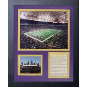 Legends Never Die Minnesota Vikings Metrodome Framed Memorabili
