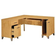 Incroyable Bush Furniture Somerset 60W L Shaped Desk, Maple Cross (WC81430K)