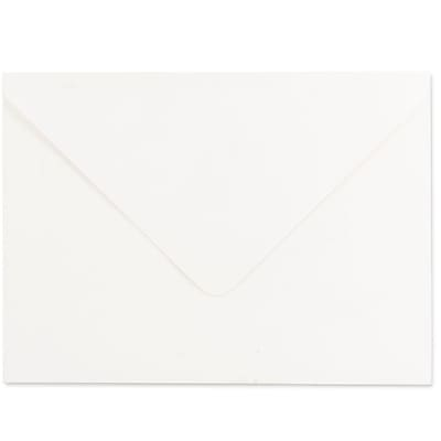 JAM Paper® A7 Invitation Envelopes, 5.25 x 7.25, Strathmore Bright White Laid, 50/pack (1921397I)