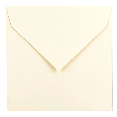 JAM Paper® 7.5 x 7.5 Square Envelopes, Natural White with V-Flap, 1000/carton (27912565B)