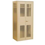Salsbury Industries 78''H x 36''W x 24''D Military 2 Door Storage Cabinet; Tan