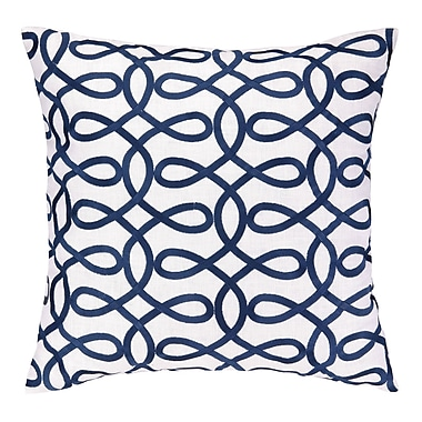 Cococozy Cococozy Lyrical Embroidered Throw Pillow; Navy
