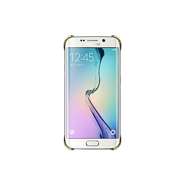 Samsung Clear Protective Cover for GS6 Edge, Gold