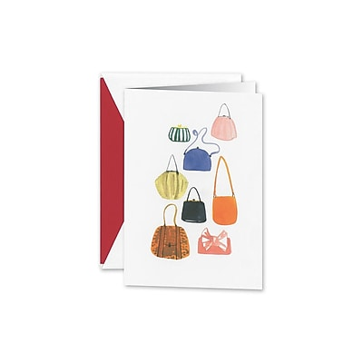 William Arthur Handbag Collection Notecards, White, 3.75 x 5.12 inch, 10/Box