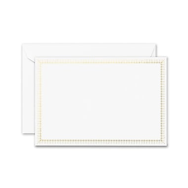 Crane & Co. Victorian Frame Correspondence Cards, Gold, 4.25 x 6.37 inch, 10/Box