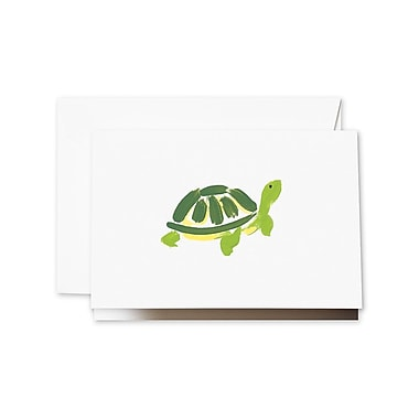 Crane & Co. Brushstroke Turtle Notecards, 3.81 x 5.18 inch, 10/Box