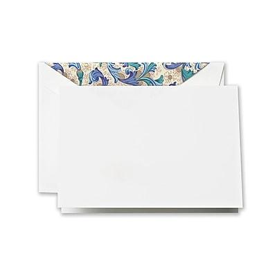 Crane & Co. Blue Florentine Notes, Pearl White, 3.81 x 5.18 inch, 10/Box
