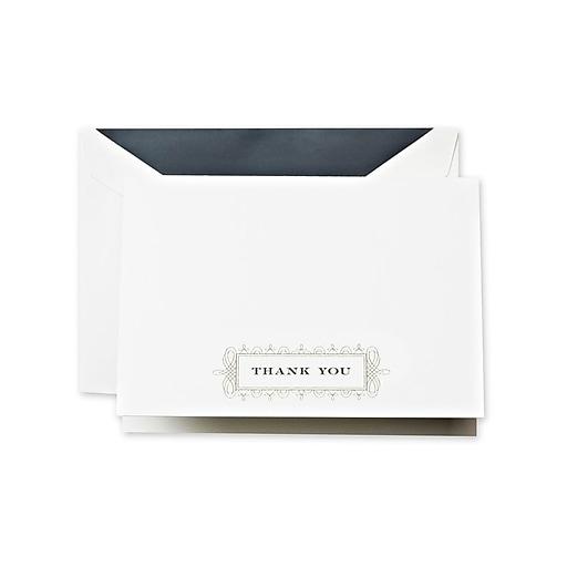 Crane & Co. Ornate Bracket Thank You Notes, 3.81 x 5.18 inc,h 10/Pack