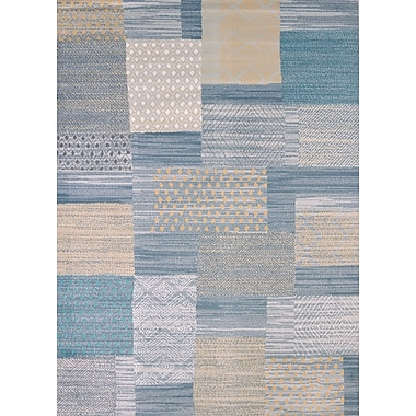 United Weavers of America Modern Texture Applique Blue Area Rug; Rectangle 7'10'' x 10'6''