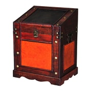 Quickway Imports Old Style Desk Podium Chest